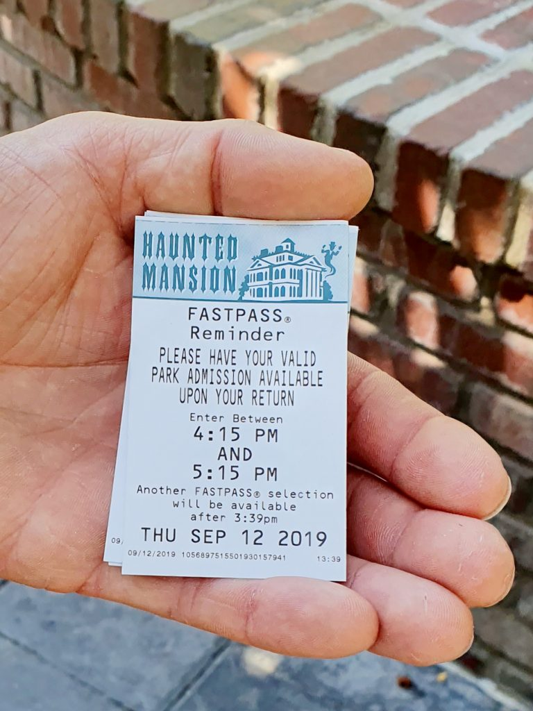 Haunted Mansion Fastpasses