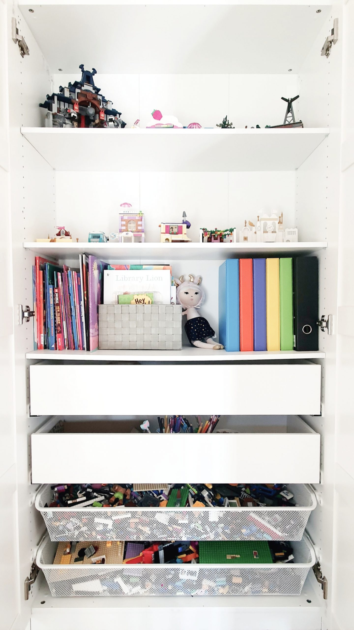 Our Little Playroom  -  Pax wardrobe toy storage.