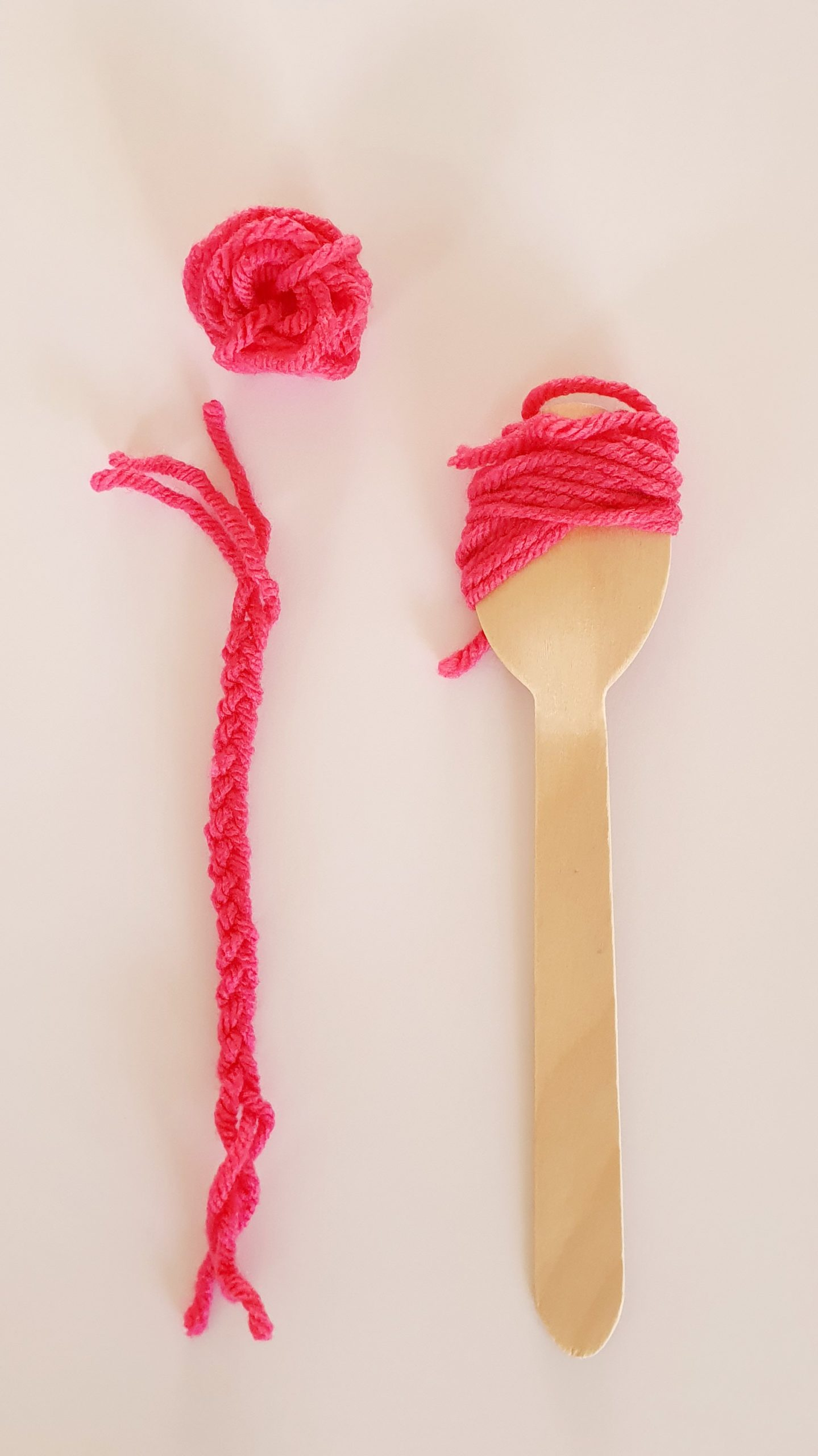 Make Your Own Spoon Doll - Hair