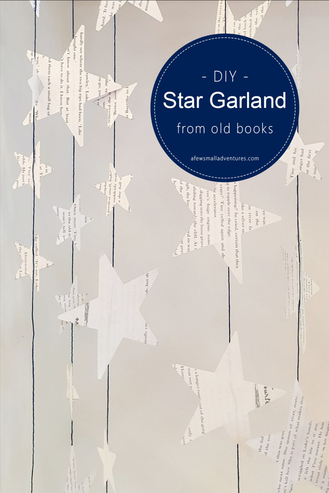 DIY Star Garland from Old Books